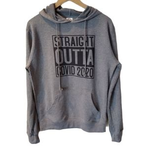 NWOT Grey Graphic Hoodie Size M